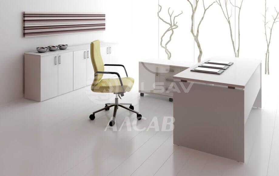 офисная мебель производитель, кабинет руководителя, столы для переговоров, AVANCE, Аванс, шимани светлый