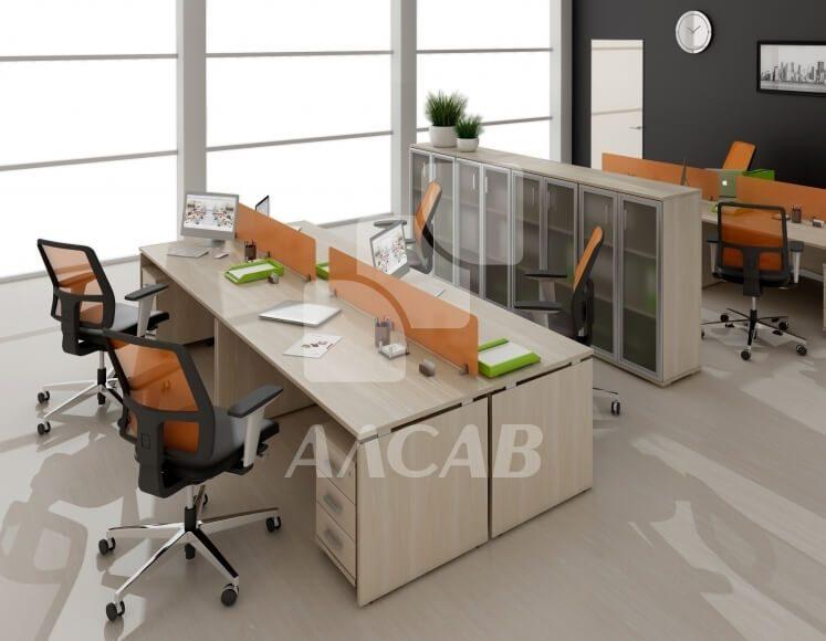 офисные перегородки, мебель для персонала, офисная мебель производитель, AVANCE, Аванс, шимани светлый