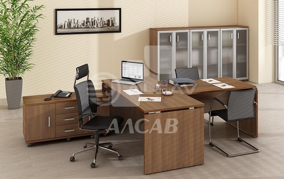 офисная мебель производитель, кабинет руководителя, AVANCE, Аванс, шимани темный