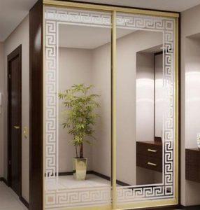 Фасады зеркало с пескоструйным нанесением