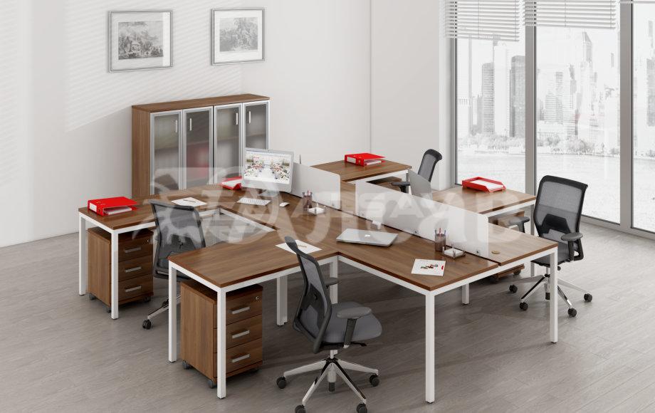 офисные перегородки, мебель для персонала, офисная мебель производитель, столы на металлокаркасе, бенч-система, бенч столы, AVANCE, Аванс, шимани темный