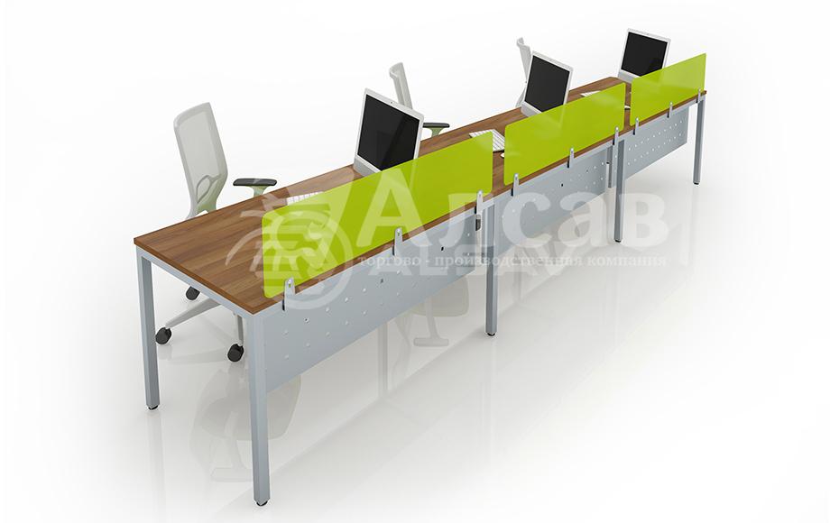 Модульная система Bench для линейных столов. Офисные перегородки, мебель для персонала, офисная мебель производитель, столы на металлокаркасе, бенч-система, бенч столы, AVANCE, Аванс, шимани темный