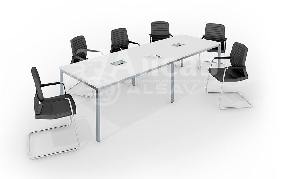 Модульная система Bench для переговорных столов. Мебель для персонала, офисная мебель производитель, столы на металлокаркасе, AVANCE, Аванс, белый