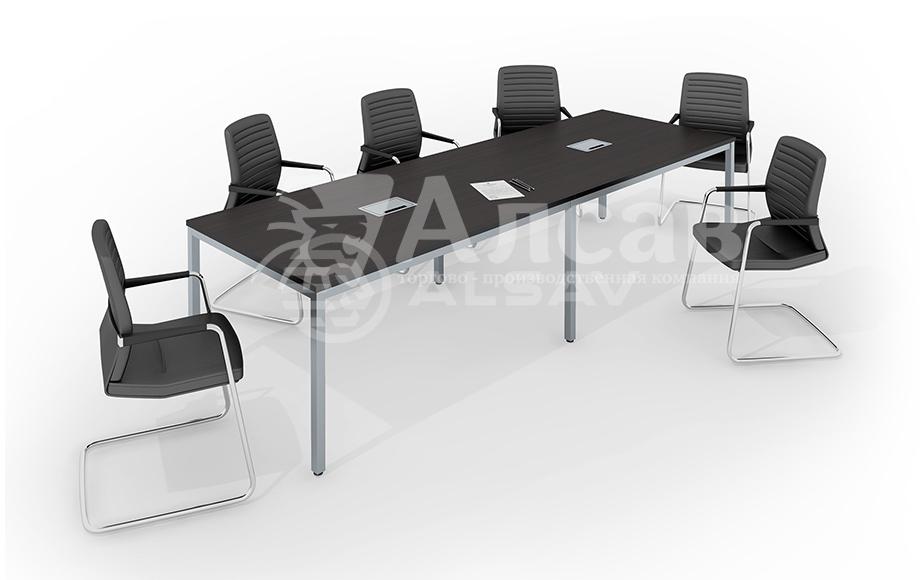 Модульная система Bench для переговорных столов. Мебель для персонала, офисная мебель производитель, столы на металлокаркасе, AVANCE, Аванс, венге.
