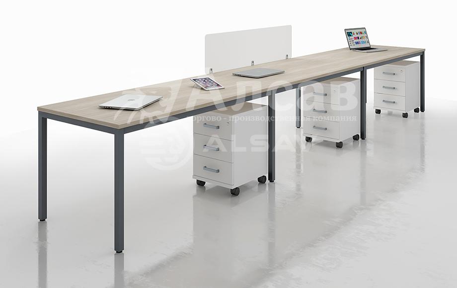 Металлокаркас серии Avance в новых декорах - графит. офисные перегородки, мебель для персонала, офисная мебель производитель, столы на металлокаркасе, бенч-система, бенч столы, AVANCE, Аванс, шимани светлый