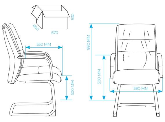 Офисное кресло для посетителей AL 750V - схема